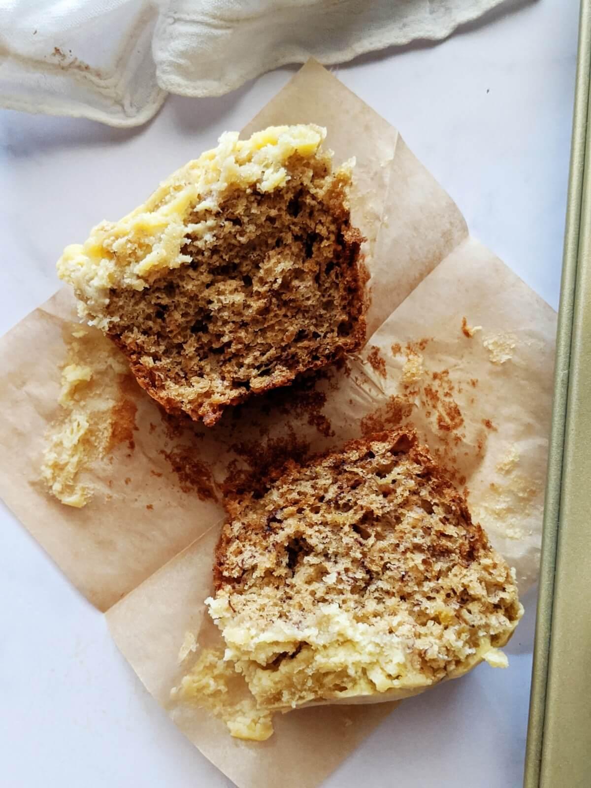 Muffins de Banano y Queso Crema