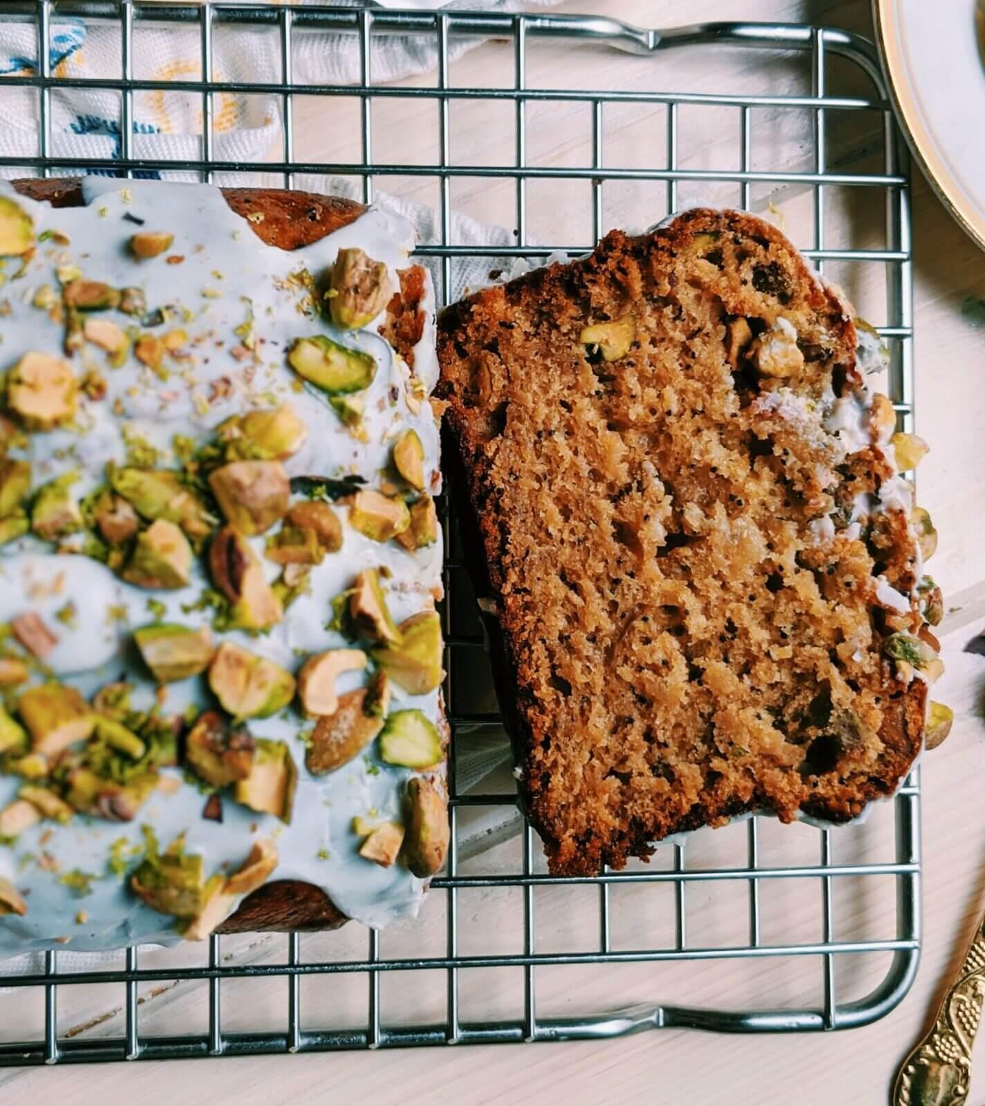 Cake de Naranja, Miel y Pistachos